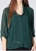 wills lifestyle womens solid casual shirt
