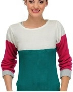 yepme solid boat neck casual womens sweater