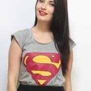 super girl tee grey