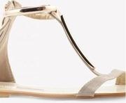 pheddies metallic touch strappy sandals
