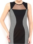 and by anita dongre black & white bodycon dress