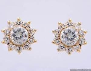 beautiful daily wear stone studded sun topsearringsstuds (ad) pce1036