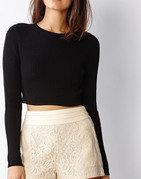 chic chiffon lace shorts