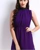 d muse purple sequin collar dress