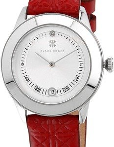 christy kk1001703 redwhite analog watch