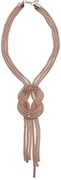 tie knot gold necklace