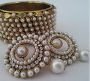 designer bangles with traditional earings