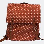 anonymous co. star print canvas backpack