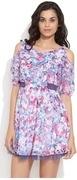 floral diva cold shoulder dress