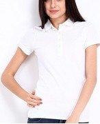 united colors of benetton women white polo tshirt