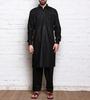 Black Cotton Pathani Kurta Pyjama