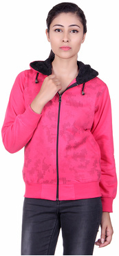 S.B.MOD Pink Fleece SweatShirt For Women