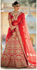 Luxurious Red Colored Embroidered Art Silk Bridal Lehenga Choli 401A