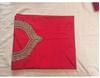 Unstitched red silk suit wid punjabi jutti