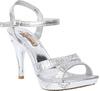 Foot Candy Women Silver Heels