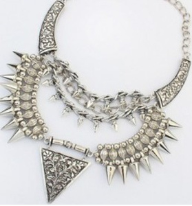punk style cone shaped bohemian necklace